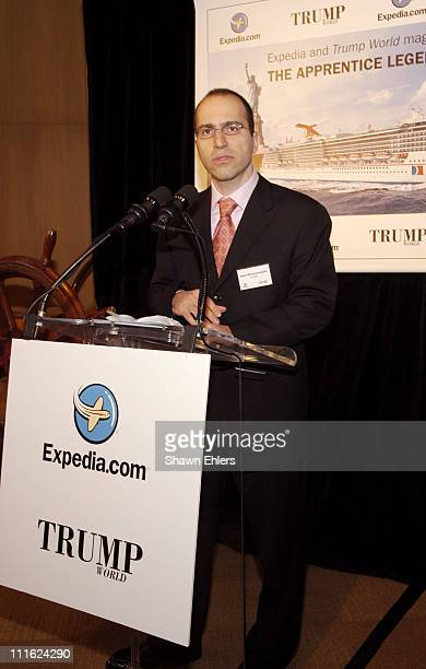 Dara Khosrowshahi CEO of Expediacom during Expediacom and Trump World Magazine Launch 'The Apprentice' Theme Cruise at Trump World Bar in New York...