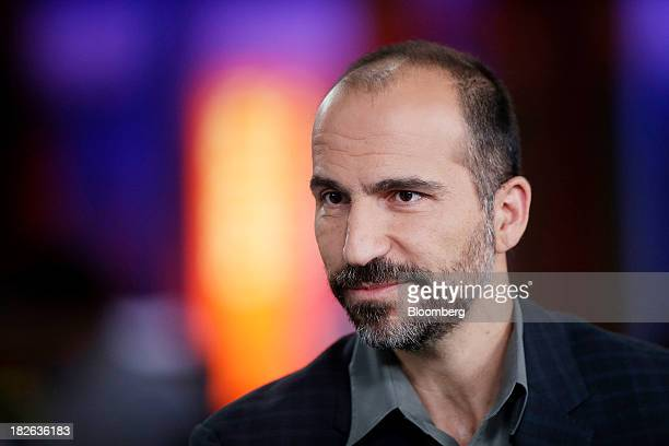 Dara Khosrowshahi chief executive officer of Expedia Inc pauses during a Bloomberg Television interview in London UK on Wednesday Oct 2 2013 Expedia...