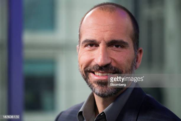 Dara Khosrowshahi chief executive officer of Expedia Inc poses for a photograph in London UK on Wednesday Oct 2 2013 Expedia Inc reported...