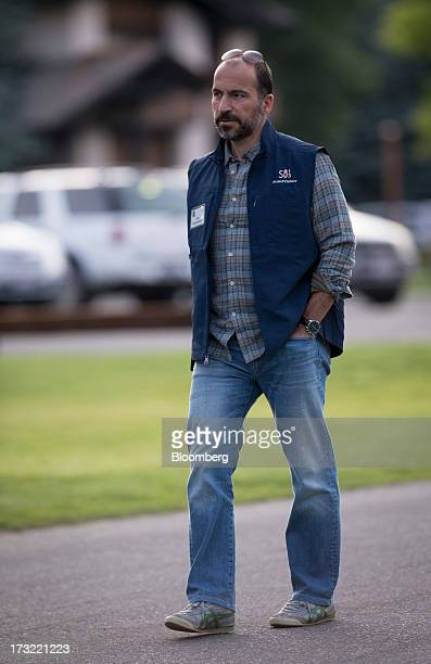 Dara Khosrowshahi president and chief executive officer of Expedia Inc arrives for a morning session at the Allen Co Media and Technology Conference...