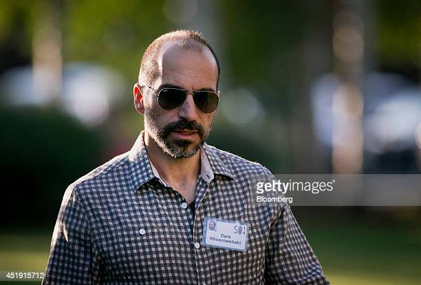 Dara Khosrowshahi president and chief executive officer of Expedia Inc arrives to a morning session at the Sun Valley Lodge during the Allen Co Media...