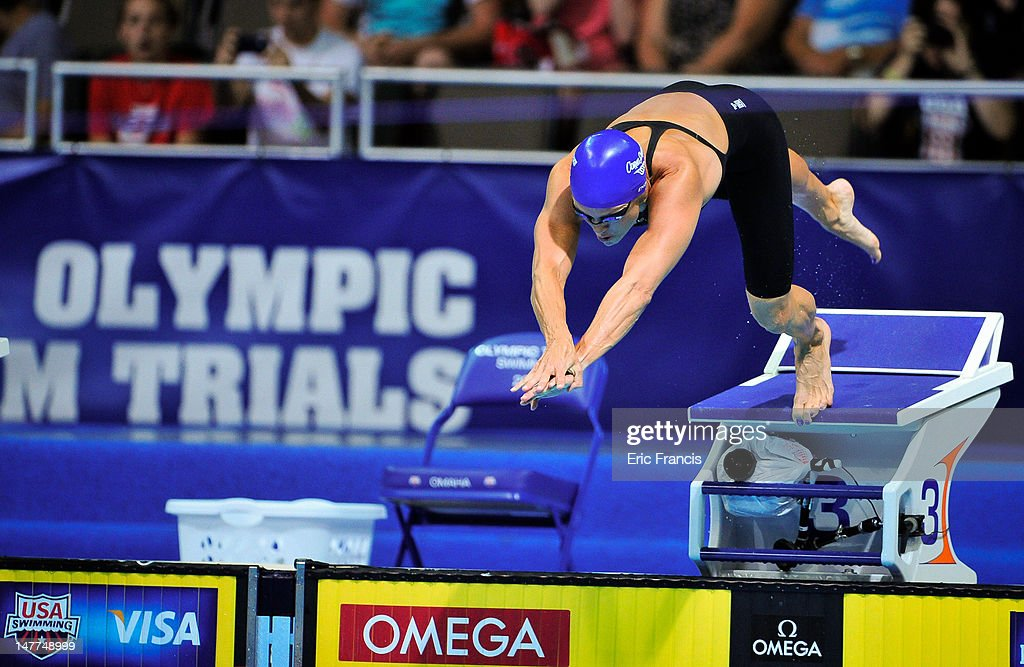 <a gi-track='captionPersonalityLinkClicked' href=/galleries/search?phrase=Dara+Torres&family=editorial&specificpeople=2419430 ng-click='$event.stopPropagation()'>Dara Torres</a> starts the 50m Freestyle during day eight of the 2012 U.S. Olympic Swimming Team Trials at the CenturyLink Center July 2, 2012 in Omaha, Nebraska.