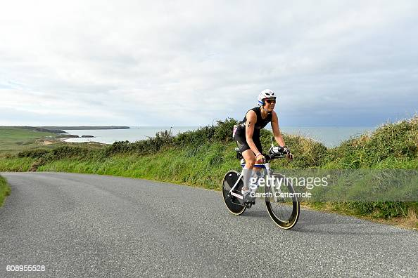 Darbi Roberts of USA in action during Ironman Wales on September 18 2016 in Pembroke Wales