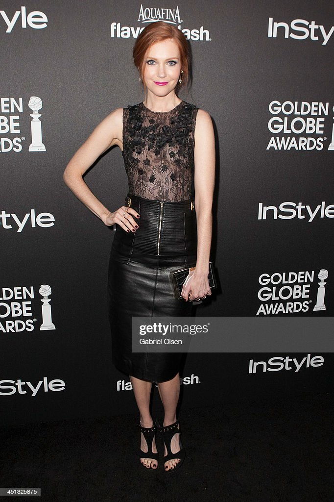 Darby Stanchfield attends The Hollywood Foreign Press Association (HFPA) And InStyle Celebrates The 2014 Golden Globe Awards Season at Fig & Olive Melrose Place on November 21, 2013 in West Hollywood, California.