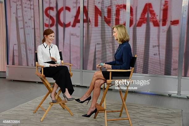 AMERICA Darby Stanchfield of 'Scandal' visits GOOD MORNING AMERICA 11/11/14 airing on the ABC Television Network