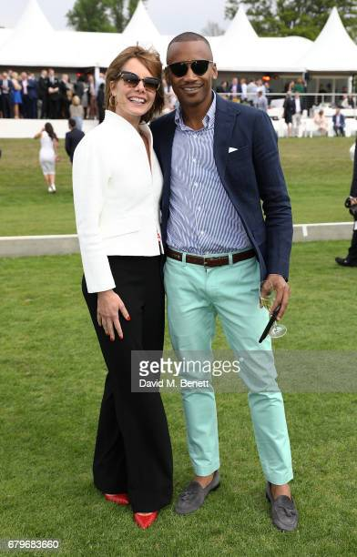 Darcey Bussell and Eric Underwood attend the Audi Polo Challenge at Coworth Park on May 6 2017 in Ascot United Kingdom