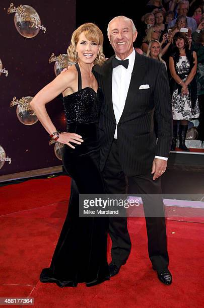 Darcey Bussell and Len Goodman attend the red carpet launch of ' Strictly Come Dancing 2015' at Elstree Studios on September 1 2015 in Borehamwood...
