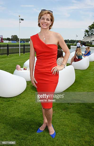 Darcey Bussell attends Audi International at Guards Polo Club near Windsor to support England as it faces Argentina for the Coronation Cup on July 26...
