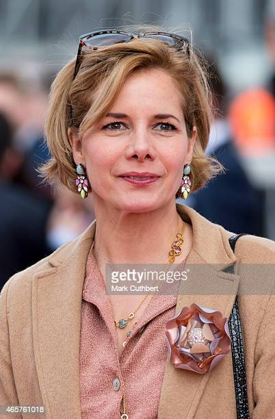 Darcey Bussell attends the naming ceremony for the PO Cruises' new liner Britannia at Ocean Cruise Terminal on March 10 2015 in Southampton England