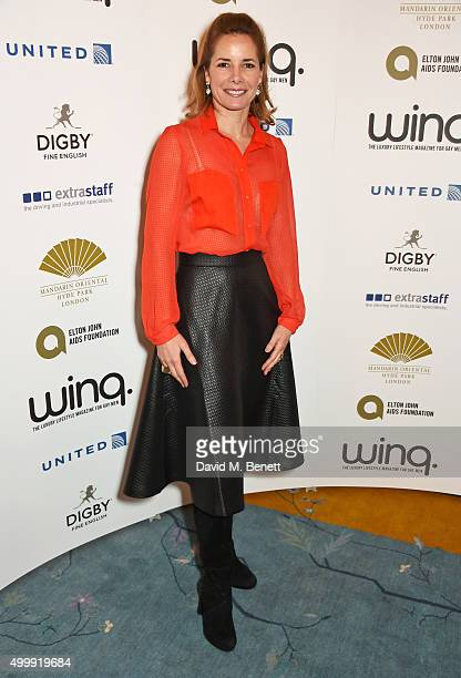 Darcey Bussell attends the Winq Magazine Men of the Year lunch to benefit the Elton John Aids Foundation at The Mandarin Oriental Hyde Park on...