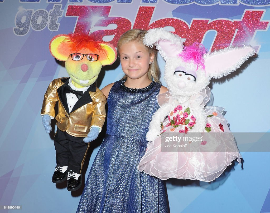 Darci Lynne attends NBC's 'America's Got Talent' Season 12 Finale Week at Dolby Theatre on September 19, 2017 in Hollywood, California.