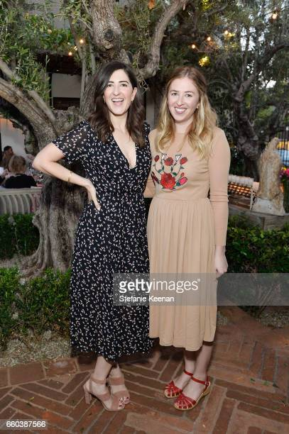 Darcy Carden and Miranda Erokan attend Minka Kelly and Barrett Ward CoHost the FashionABLE Equal Pay Day kickoff Dinner at Gracias Madre on March 29...