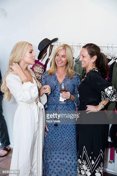 Darcy Jones Jacqueline Bosch and Gretchen Gunlocke Fenton attend Figue Hosts Cocktails Benefitting The Young Friends of the Palm Beach Symphony at...