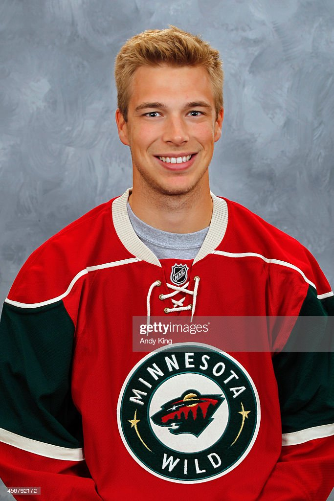 Darcy Kuemper of the Minnesota Wild poses for his official headshot for the 20132014 season on September 11 2013 at the Xcel Energy Center in Saint...
