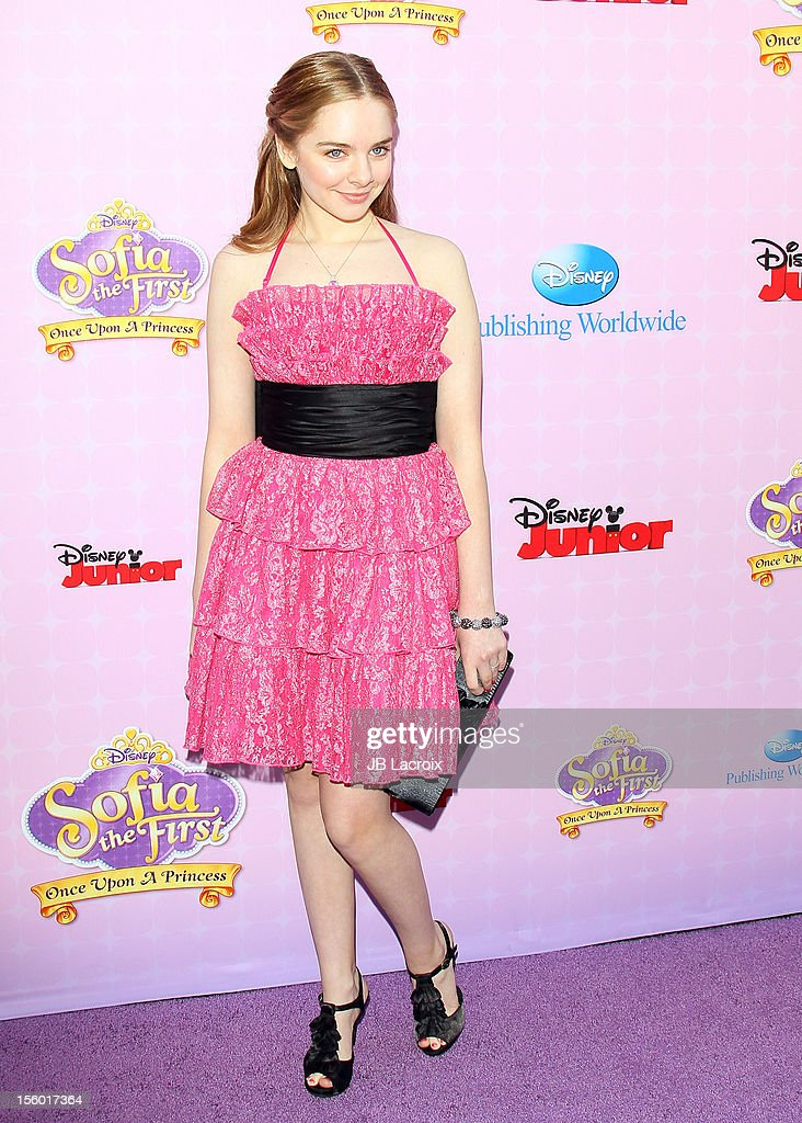 Darcy Rose Byrnes attends the premiere of Disney Channels' 'Sofia The First: Once Upon a Princess' at Walt Disney Studios on November 10, 2012 in Burbank, California.