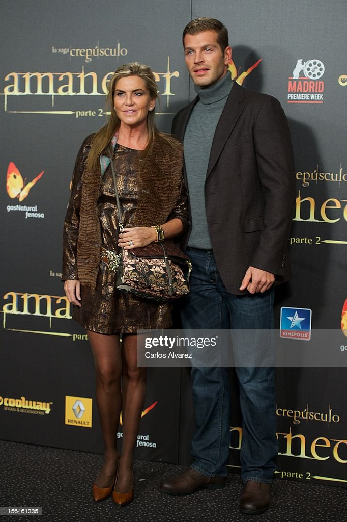 Darek Miroslav and Susana Uribarri attend the 'The Twilight Saga: Breaking Dawn - Part 2' (La Saga Crepusculo: Amanecer Parte 2) premiere at the Kinepolis cinema on November 15, 2012 in Madrid, Spain.