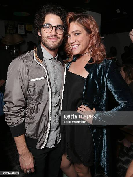 Daren Criss and Mia Swier attend the Los Angeles Premiere Of The Orchard's 'Nasty Baby' on October 19 2015 in Los Angeles California