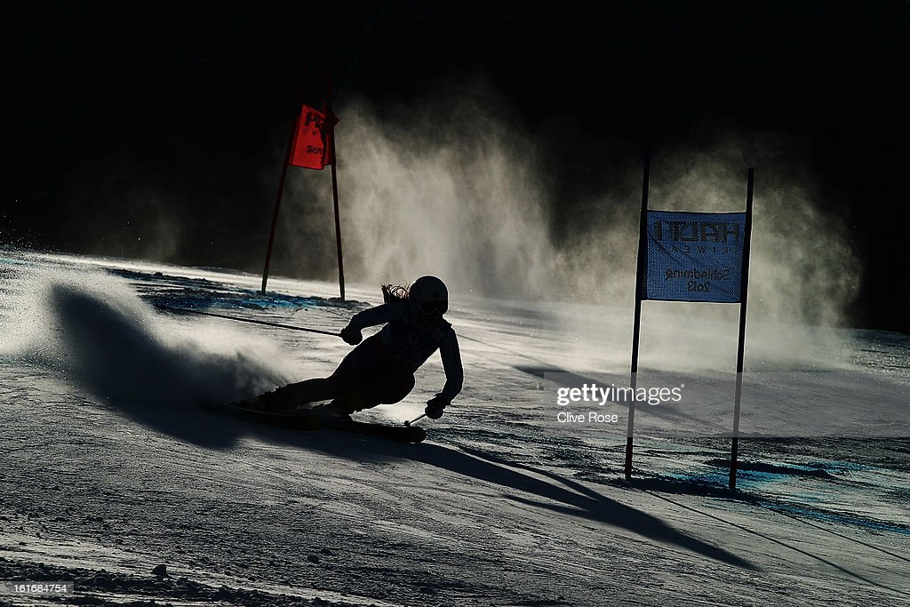 Daria Astapenko of Russia skis in the Women's Giant Slalom during the Alpine FIS Ski World Championships on February 14, 2013 in Schladming, Austria.