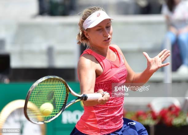 Daria Gavrilova in action during his match against Svetlana Kuznetsova Internazionali BNL d'Italia 2017 on May 16 2017 in Rome Italy