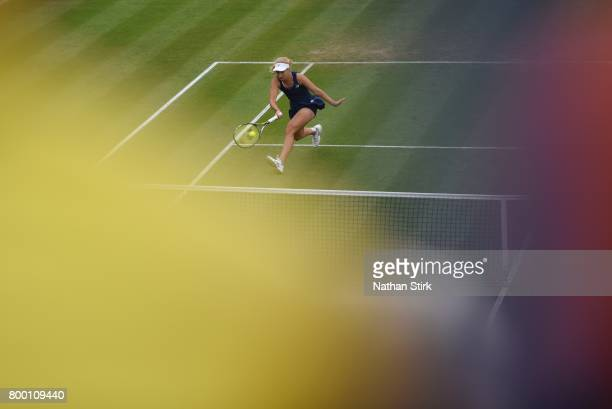 Daria Gavrilova of Australia in action during the quarter final match against Lucie Safarova of Czech Republic on day five of The Aegon Classic...
