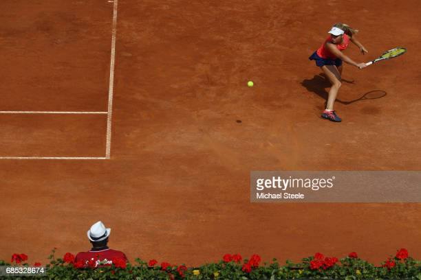 Daria Gavrilova of Australia in action during the women's quarterfinal match against Kiki Bertens of Netherlands on Day Six of the Internazionali BNL...