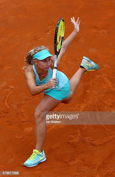 Daria Gavrilova of Russia in action during her women's Semi Final match against Maria Sharapova of Russia on Day Seven of The Internazionali BNL...