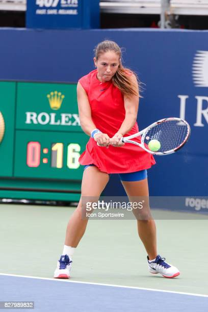 Daria Kasatkina during the first round 2017 Rogers Cup tennis tournament on August 7 at Aviva Centre in Toronto ON Canada Kasatkina defeated Vinci 76...