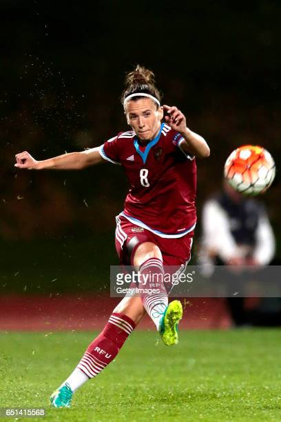 Daria Makarenko of Russia during the Algarve Cup Tournament Match between Sweden W and Russia W on March 8 2017 in Albufeira Portugal