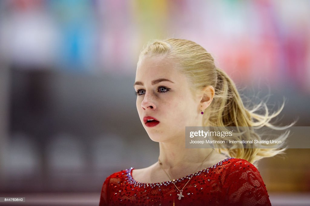 Дарья Паненкова - Страница 5 Daria-panenkova-of-russia-looks-on-in-the-junior-ladies-free-skating-picture-id844763640