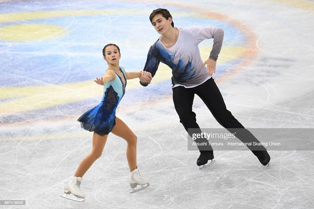 Дарья Павлюченко-Денис Ходыкин Daria-pavliuchenko-and-denis-khodykin-of-russia-compete-in-the-junior-picture-id887418000