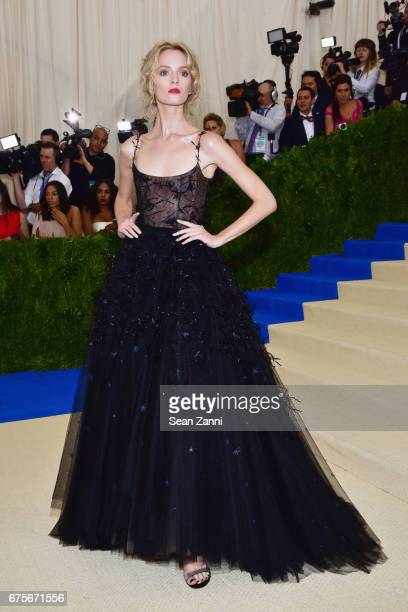 Daria Strokous arrives at 'Rei Kawakubo/Comme des Garcons Art Of The InBetween' Costume Institute Gala at The Metropolitan Museum on May 1 2017 in...