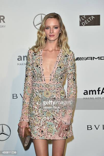 Daria Strokous attends amfAR Milano 2014 during Milan Fashion Week Womenswear Spring/Summer 2015 on September 20 2014 in Milan Italy