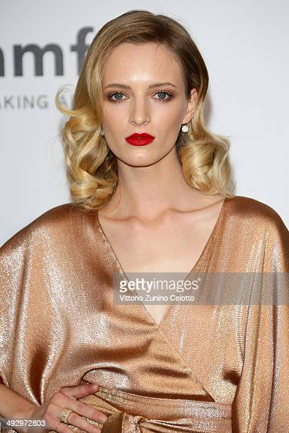 Daria Strokous attends amfAR's 21st Cinema Against AIDS Gala Presented By WORLDVIEW BOLD FILMS And BVLGARI at Hotel du CapEdenRoc on May 22 2014 in...