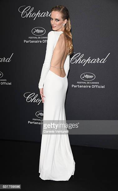 Daria Strokous attends Chopard Wild Party as part of The 69th Annual Cannes Film Festival at Port Canto on May 16 2016 in Cannes France