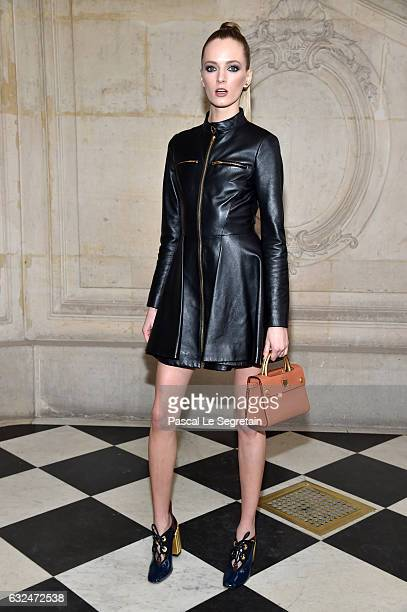 Daria Strokous attends the Christian Dior Haute Couture Spring Summer 2017 show as part of Paris Fashion Week on January 23 2017 in Paris France