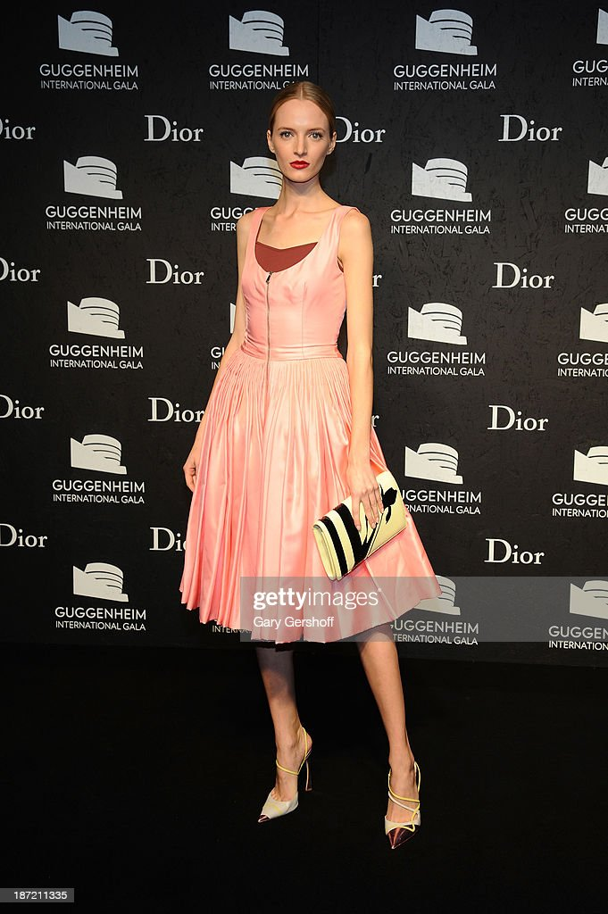 Daria Strokous attends the Guggenheim International Gala, made possible by Dior, Pre-party hosted by The Young Collector's Council at Guggenheim Museum on November 6, 2013 in New York City.