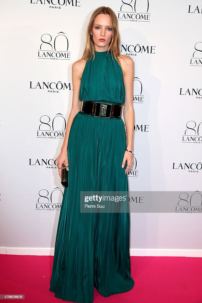 Daria Strokous attends the Lancome 80th Anniversary Party as part of Paris Fashion Week Haute Couture Fall/Winter 2015/2016 on July 7, 2015 in Paris, France.