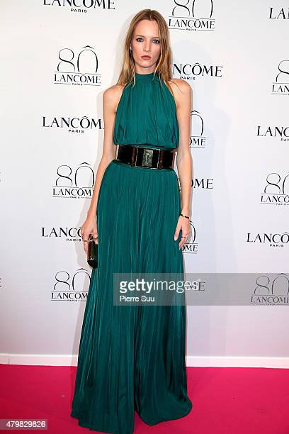 Daria Strokous attends the Lancome 80th Anniversary Party as part of Paris Fashion Week Haute Couture Fall/Winter 2015/2016 on July 7 2015 in Paris...