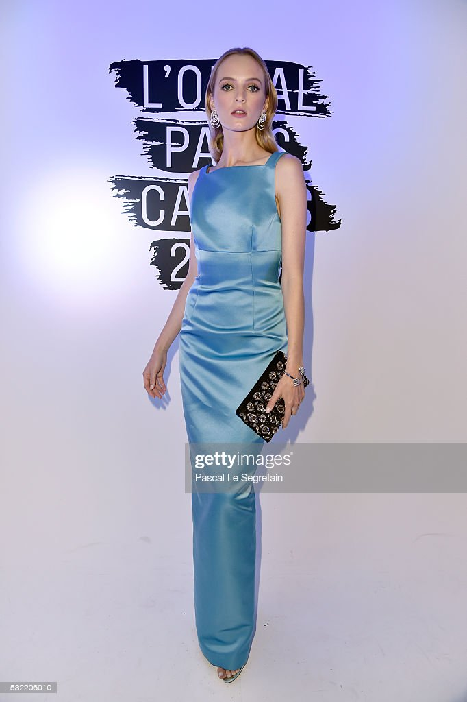Daria Strokous attends the L'Oreal Paris Blue Obsession Party at the annual 69th Cannes Film Festival at Hotel Martinez on May 18 2016 in Cannes...