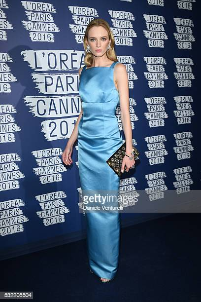 Daria Strokous attends the L'Oreal Party during the annual 69th Cannes Film Festival at on May 18 2016 in Cannes France
