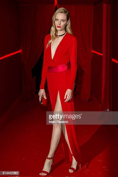 Daria Strokous attends the Red Obsession party to celebrate L'Oreal Paris's partnership with Paris Fashion Week on March 8 2016 in Paris France...