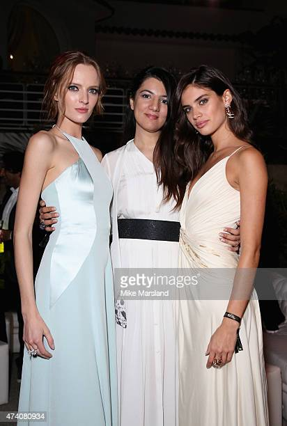 Daria Strokous Gyunel Rustamova and Sara Sampaio attend the De Grisogono Divine In Cannes Dinner Party at Hotel du CapEdenRoc on May 19 2015 in Cap...