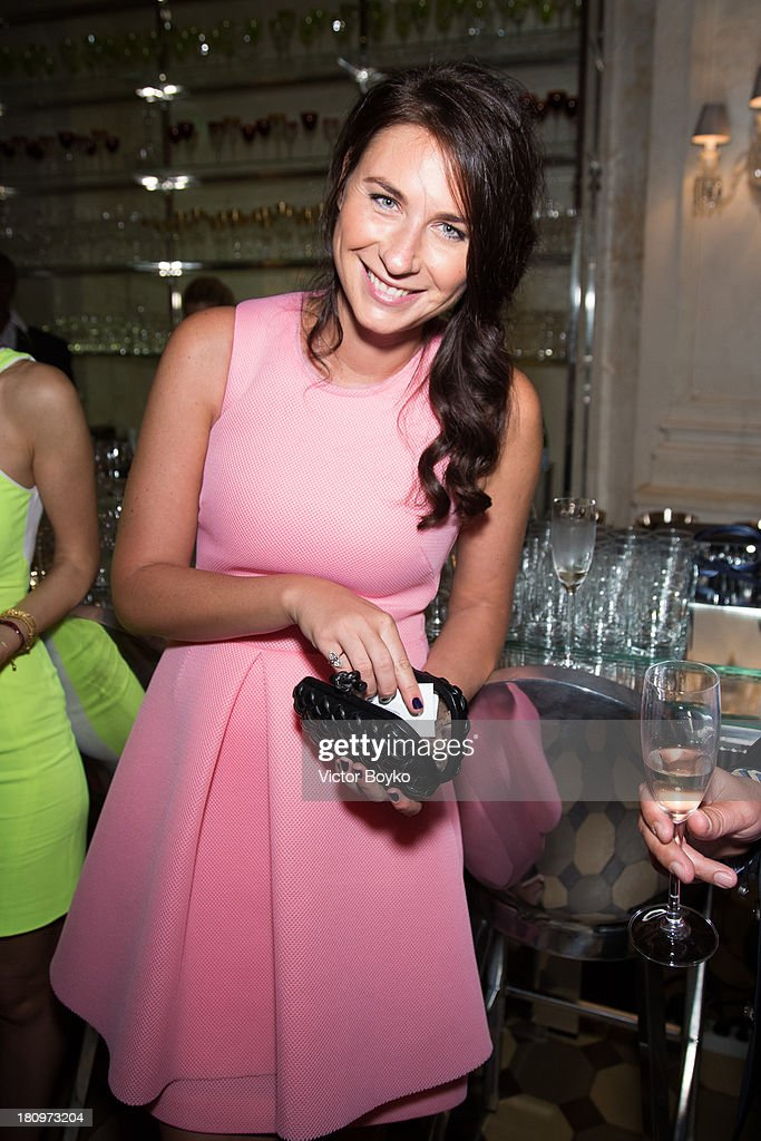 Daria Veledeeva attends the dinner celebrating the opening of Vadim Zakharov's 'Dead Languages Dance' special project as part of the 5th Moscow Modern Art Biennale on September 18, 2013 in Moscow, Russia.