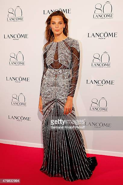 Daria Werbowy attends the Lancome 80th anniversary party as part of Paris Fashion Week Haute Couture Fall/Winter 2015/2016 on July 7 2015 in Paris...
