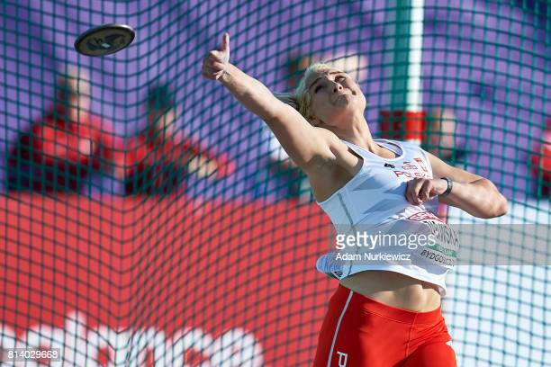 Daria Zabawska from Poland competes in women's discus throw qualification during Day 1 of European Athletics U23 Championships 2017 at Zawisza...