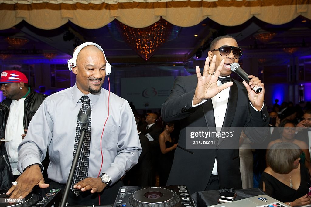 Darian 'Big Tigger' Morgan and Doug E Fresh serve as D.J's at the Congressional Black Caucus 2013 Inauguration Celebration at Capital Hilton on January 21, 2013 in Washington, United States.