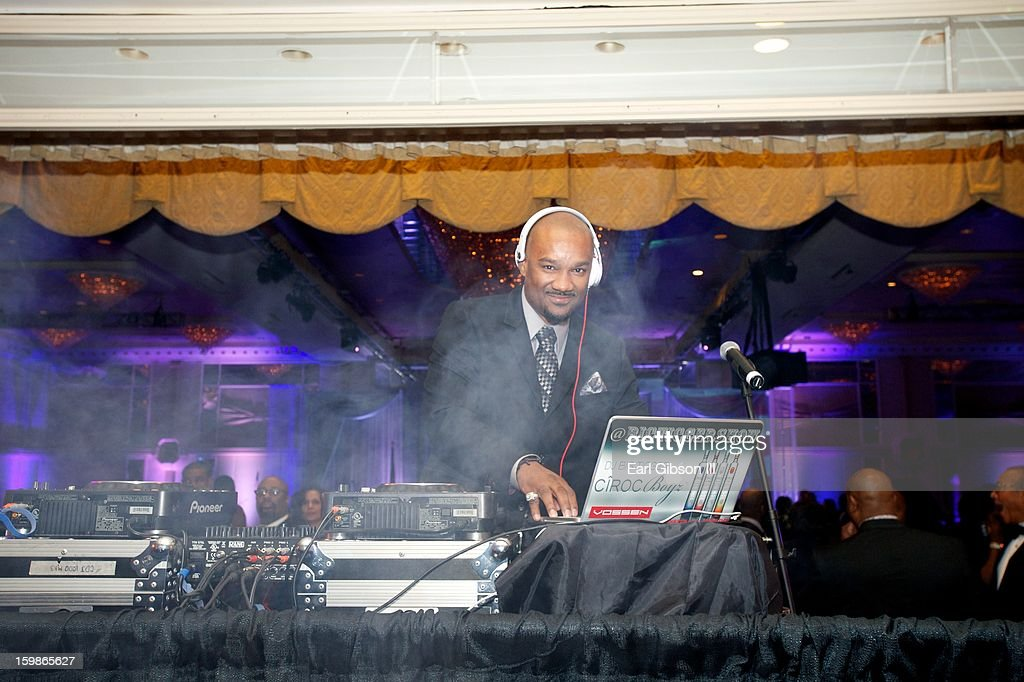 Darian 'Big Tigger' Morgan serve as house D.J. at the Congressional Black Caucus 2013 Inauguration Celebration at Capital Hilton on January 21, 2013 in Washington, United States.
