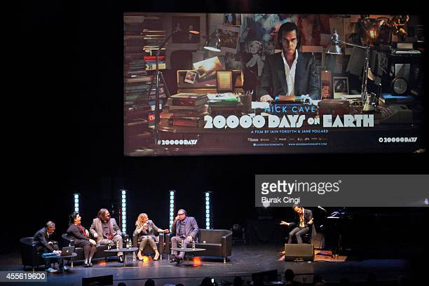 Darian Leader Jane Pollard Iain Forsyth Edith Bowman Ray Winstone and Nick Cave discuss 20000 Days on Earth on stage at the gala preview of 20000...