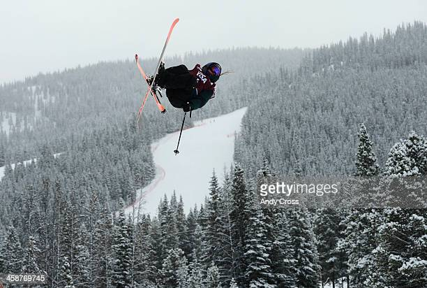 Darian Stevens USA gets airborne during her first run at the US Grand Prix slope style finals at the Copper Mountain ski area Saturday afternoon...