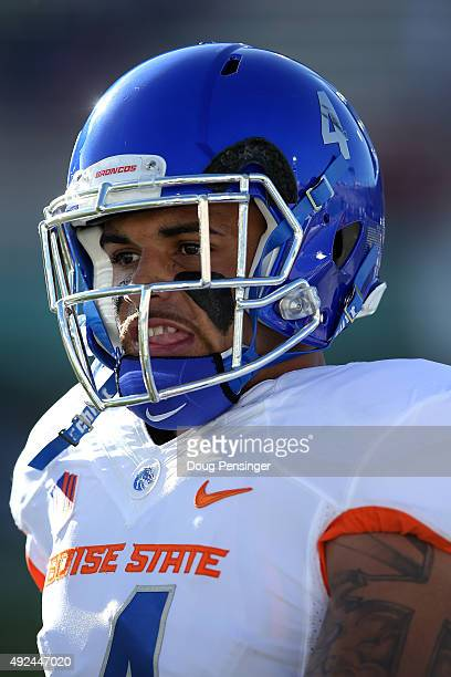 Darian Thompson of the Boise State Broncos warms up prior to facing the Colorado State Rams at Sonny Lubick Field at Hughes Stadium on October 10...